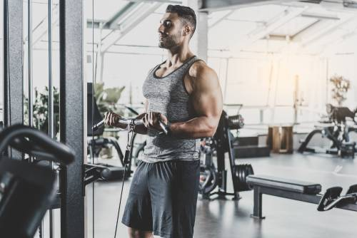 Man in Gym working out- PEMF Health Inc.