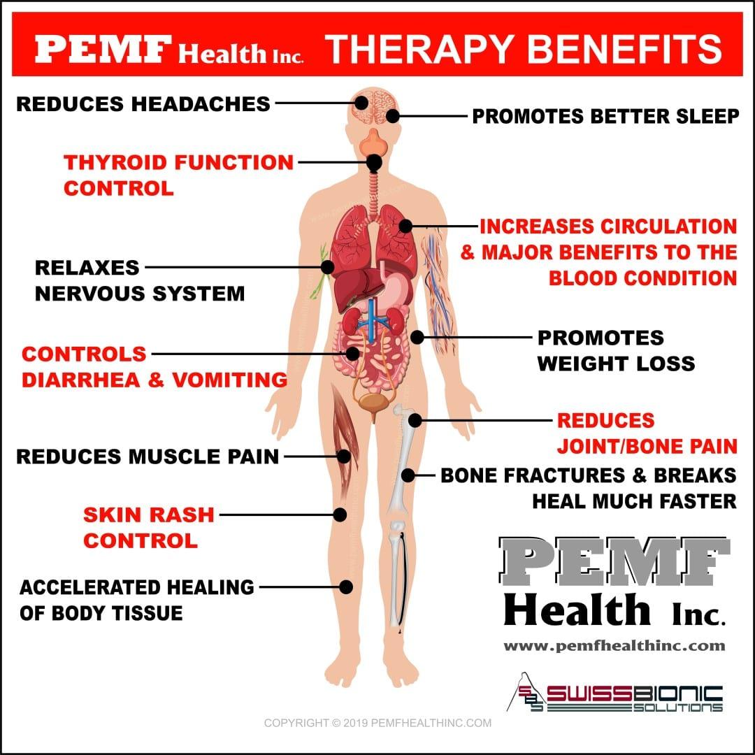 Diagram of the body- PEMF Benefits- PEMF Health Inc.